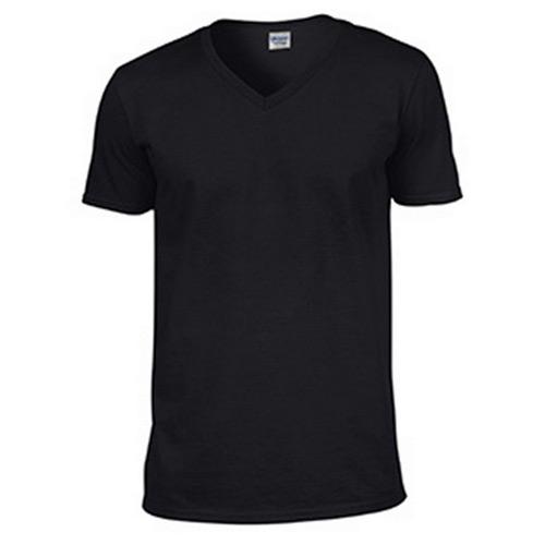 Camiseta negra cuello pico